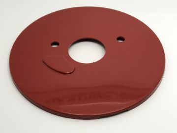 GPO Lacquer Red Plain Telephone Dial Back Plate